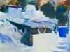 Блохин Валерий. Индийская деревня, 2006.110х130
