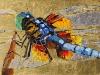 Дарья Багринцева. Golden dragonfly. 2014. 50x150 х.акр. поталь