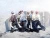 Михаил Копьев. Похороны в июне. картон, масло, 50,5х69,5, 1984