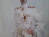 Михаил Копьев. Портрет генерал-лейтенанта П.Н. Врангеля.  х. акрил, 90х70