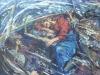 Михаил Копьев.  Евангелие от Матвея. Глава VIII. Буря на Тибериадсом море х.акр. 100х120  2007