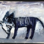 Владимир Яковлев. Полосатый кот с птицей в зубах. 1980-е